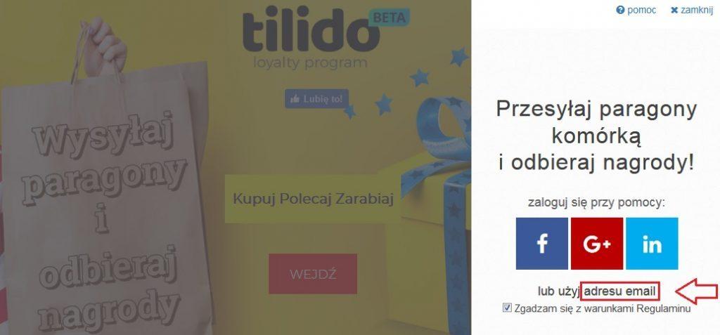 Tilido - zarabianie na paragonach - bezpłatna rejestracja