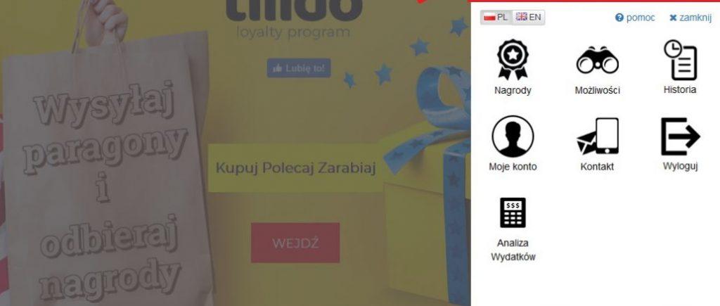 Tilido - zarabianie na paragonach - panel użytkownika