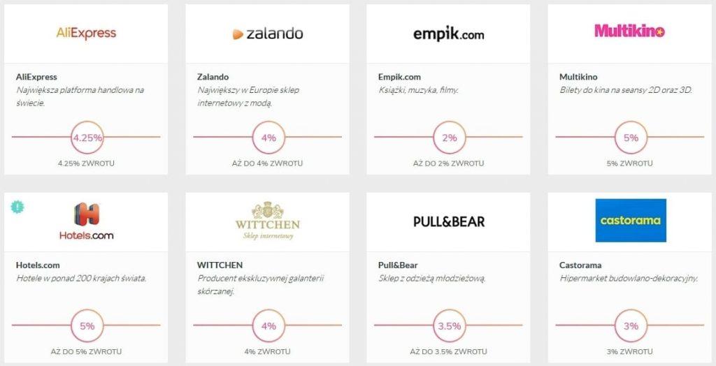 Refunder - przykładowe sklepy